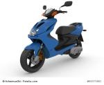 Modern blue scooter